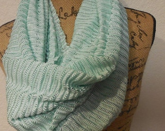 Only One sea green infinity scarf