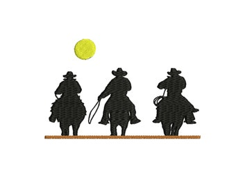Cowboys embroidery design