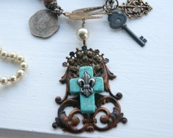 Shabby Chic Bohemian Mintage Mix Necklace