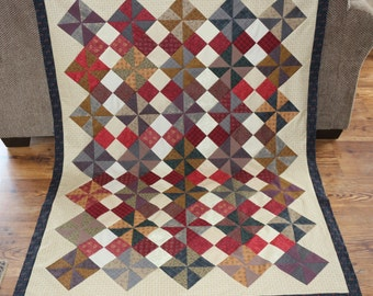 Four Patch/Pin wheel Quilt Top