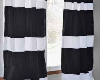 custom gray striped curtains your size stripes color