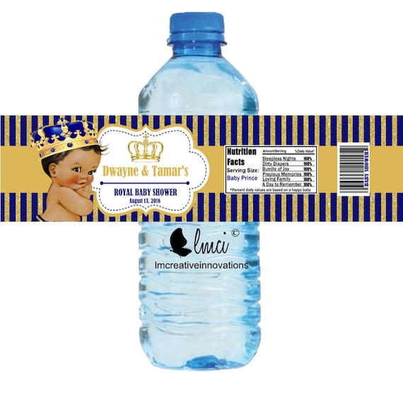 Royal Baby Shower Water Bottle Labels Royal Birthday Bottle
