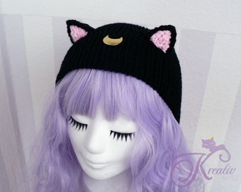 Cat Luna Beanie (black)