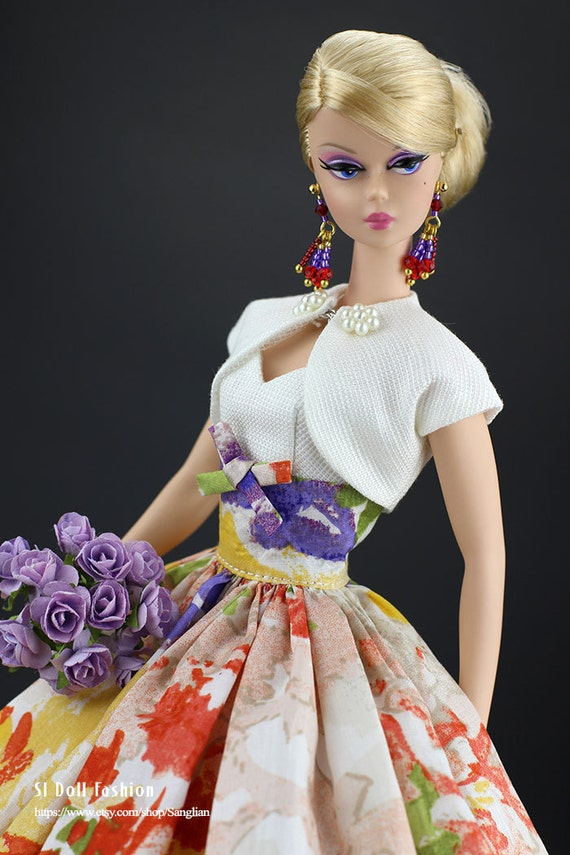 Vintage dress with bolero for silkstone barbie by sl doll - Barbie barbie barbie barbie barbie ...