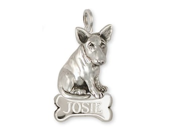 Bull Terrier Pendant Handmade Sterling Silver Dog Jewelry BU9-NP
