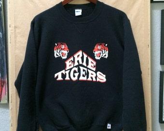 Vintage Black Erie Tigers Sweatshirt Made in USA Erie Colorado Tigers