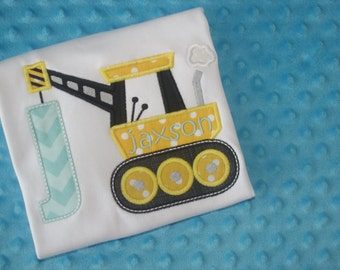Construction Crane Initial Shirt