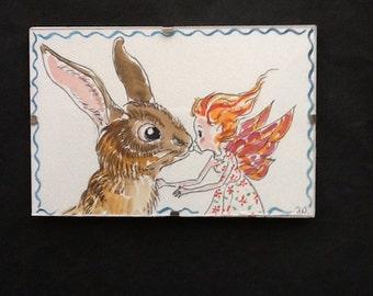 Original Fairy Rabbit painting.