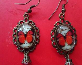 earrings vintage butterfly kawaii