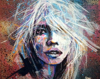 Into The Wind - Orinal painting by GRAFFMATT - Streetart portrait