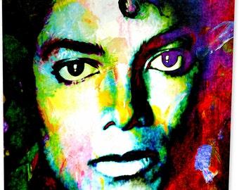 Michael Jackson metal art print by Mark Lewis. mjs1-michael-m