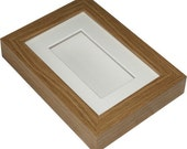 """Deep shadow box display frame, 6"""" x 4"""" for a medal, pocket watch, keepsakes, decoupage or any 3D items.  4""""x2"""" display area"""