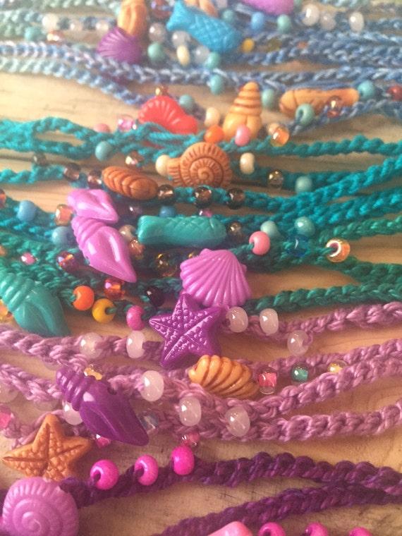 mermaid friendship bracelet summer pool birthday favor