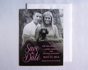 Save The Date Magnet - Wedding Magnet - Photo Save The Date Magnets