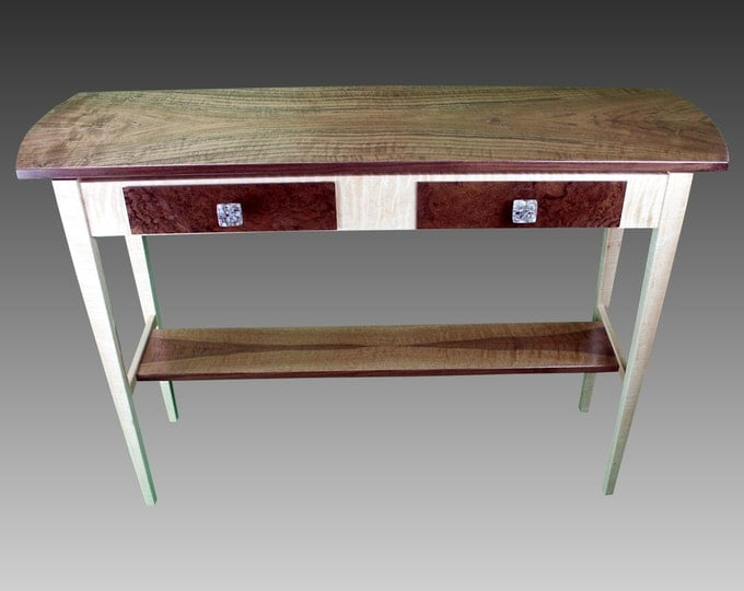 Side Table - Claro Walnut & Tiger Maple