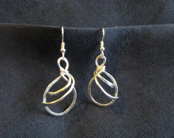 Sterling Silver Wire Wrapped Earrings