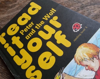 Read it yourself, peter and the wolf book, vintage ladybird book, read it yourself, reading level 3, ladybird series 777, learn to read
