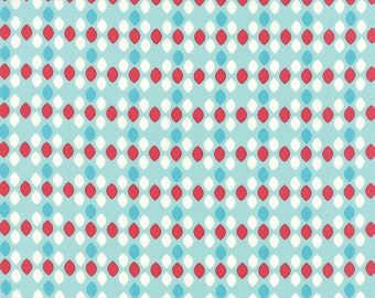 1/2 Yard - Summerfest Ice Pop Blue Ovals Fabric by April Rosenthal - 24036 17