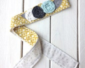 Mustard and Silver Dots // Garden Party Headband