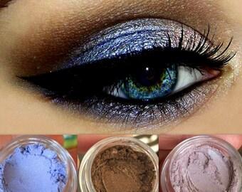 NEW! GeT tHiS LOoK! Trio- Natural, Vegan Eyeshadow and Eyeliner Makeup. Cruelty Free Cosmetics.