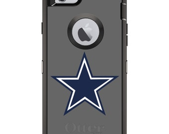 Custom OtterBox Defender Case for Apple iPhone 6 6S 7 8 PLUS X 10 - Personalized Monogram - Dallas Star