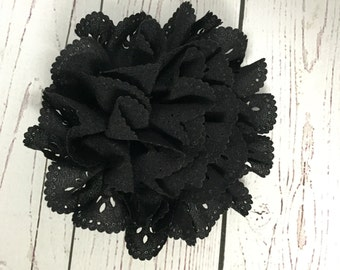 Black flower dog collar accessory Halloween