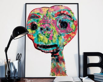 E.T. The Extra-Terrestrial poster print