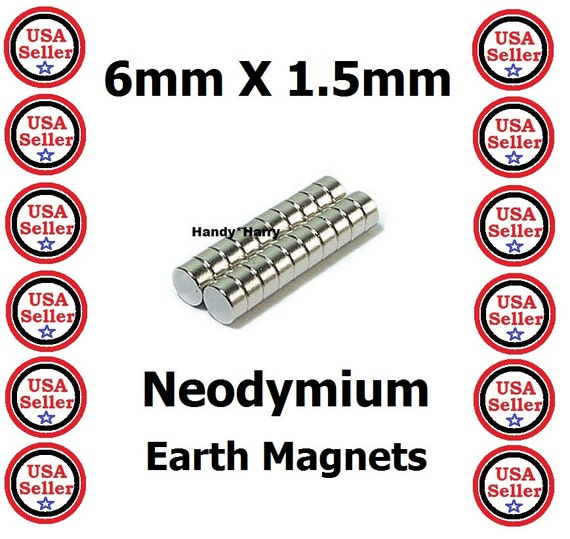 200 pcs 6mm x 1 5mm neodymium magnets super strong for Super strong magnets for crafts