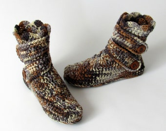 Slippers - style boots crochet