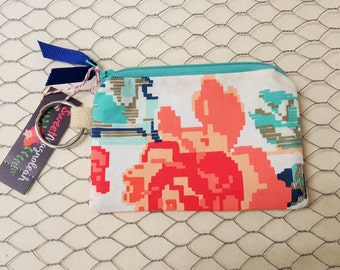 Credit card holder, Coin pouch, ID holder, Floral