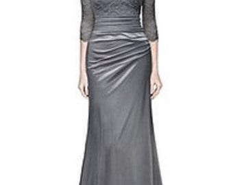 Women Lace Dress;  2/3 Sleeve Slim Maxi Dress