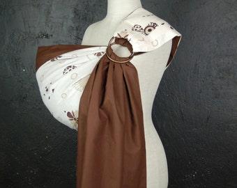 Baby Sling Rings/ Baby sling/ Baby Carrier/ Brown baby sling/ Reversible Baby ring Sling/ Baby Wrap/ Baby Gift