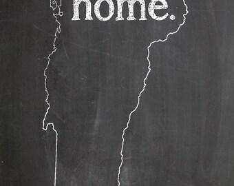 "Vermont HOME STATE PRIDE 2"" x 3"" Fridge Magnet Chalkboard Chalk Country Decor"