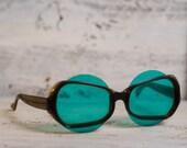 Vintage eyewear green eyeglass 1970's Plastic frame Soviet eyeglass Hipster style Retro style Old school style