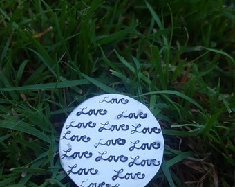 Solid silver Love Token