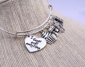 Bakers charm bracelet - baking - cupcake charm - measuring spoons charm - bakers gift - I sugar coat everything - pastry chef - chef