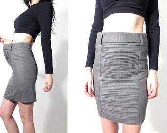 Vintage Pencil Skirt / Mini Skirt / Formal Skirt /Pregnant Skirt / Office Skirt / Secretary Skirt / Size S