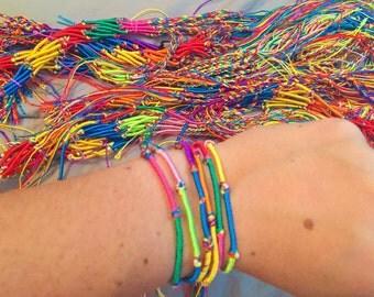 Friendship bracelets set of 3, 10, or 20