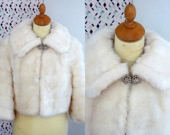MONROE 50s faux fur bolero shrug