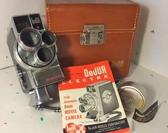 DeJur Electra 3 lense 8mm Wind-Up Movie Camera