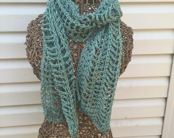 Summer scarf,green,lacy scarf,lightweight,accessories,spring scarf
