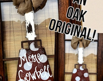 Collegiate- Cowbell Door Hanger