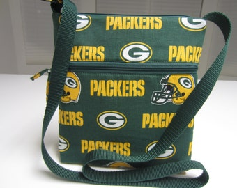 Green Bay Packers Crossbody Bag, Hobo Bag, Hipster Bag, NFL Crossbody Bag