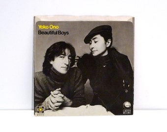 John Lennon Yoko Ono Vinyl Record Vintage Picture Sleeve 7 inch Single Woman Beautiful Boys The Beatles Double Fantasy Album 1981 artist