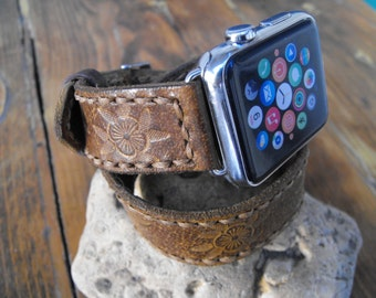 Feminine Apple iwatch Band 38mm 42mm Apple Watch Band leather band, double tour wrap, women iwatch band, 38mm apple band, women gift