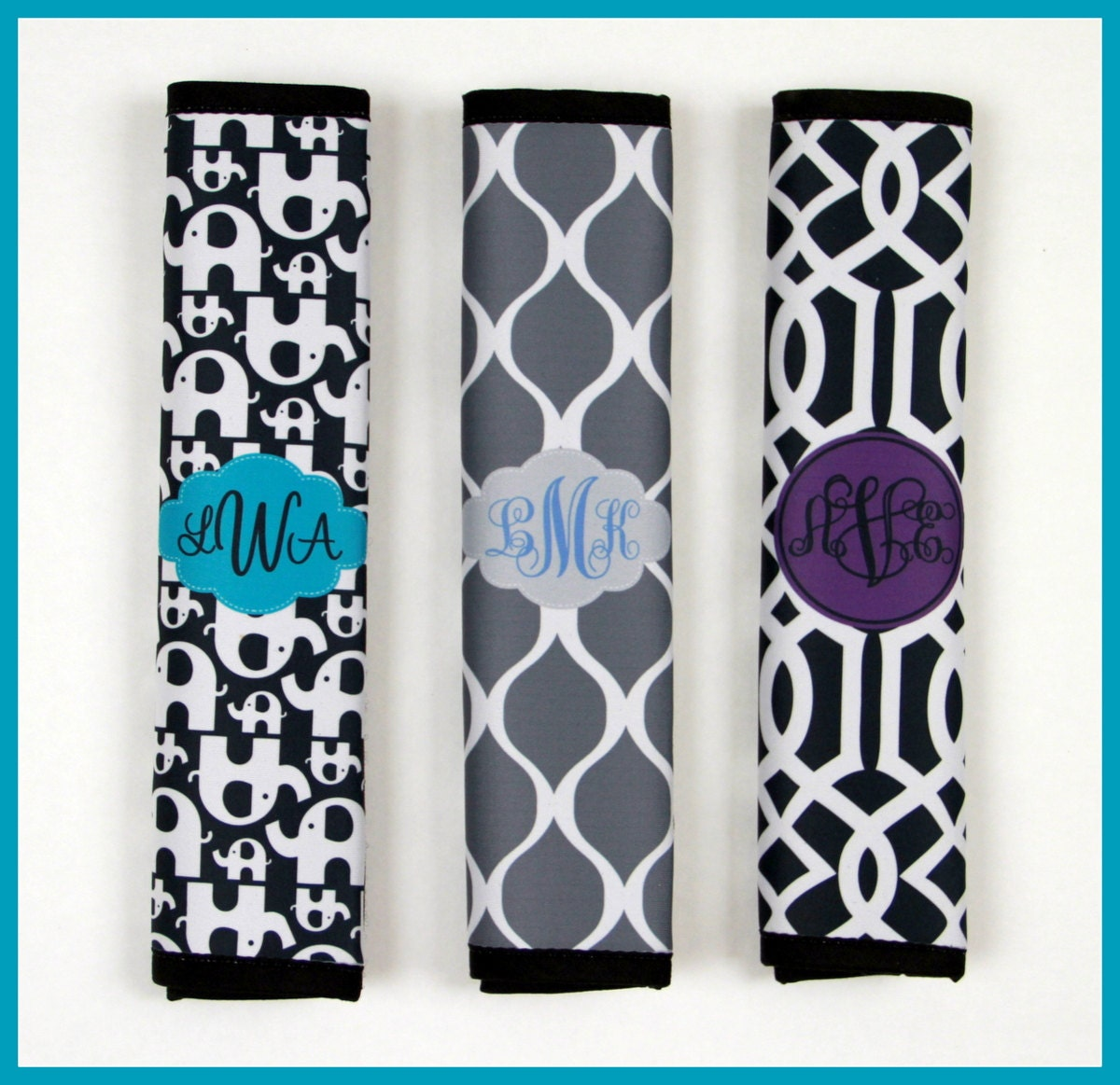 Seat Belt Cover Monogrammed Personalized Custom