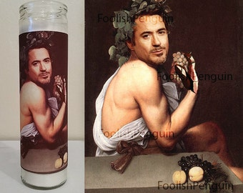Iron Man Devotional Candle