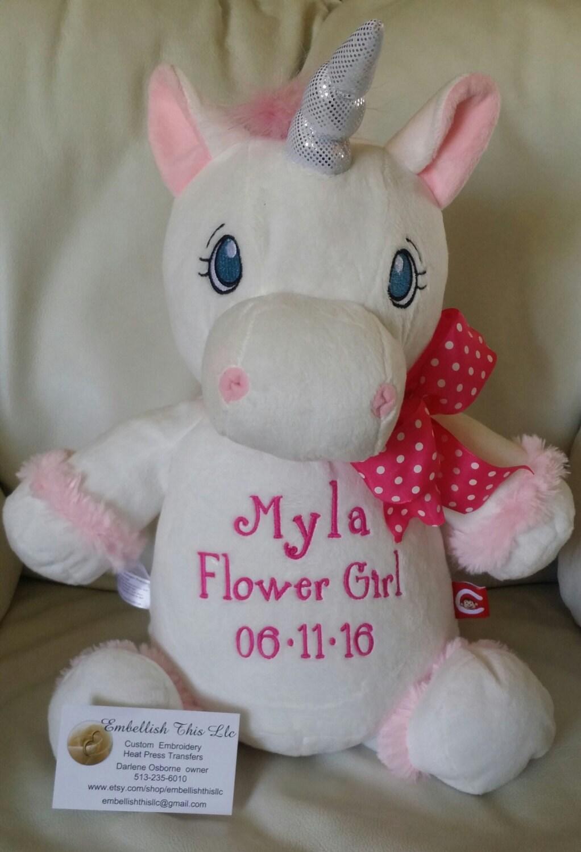 FLOWER GIRL GIFT Personalized Unicorn Stuffed Unicorn   1022 x 1500 jpeg 157kB