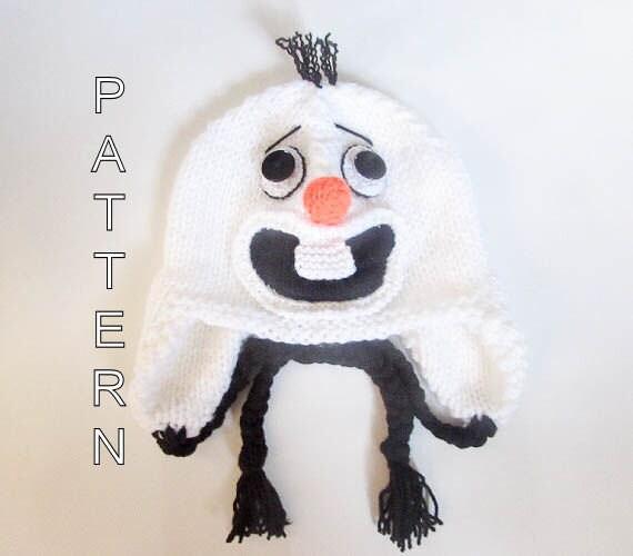 Knitting Pattern For Olaf From Frozen : Knitting Pattern Olaf Hat Frozen Hat Snowman by ...