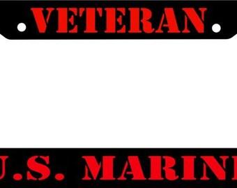 U.S.Marine Reflective, license plate frame